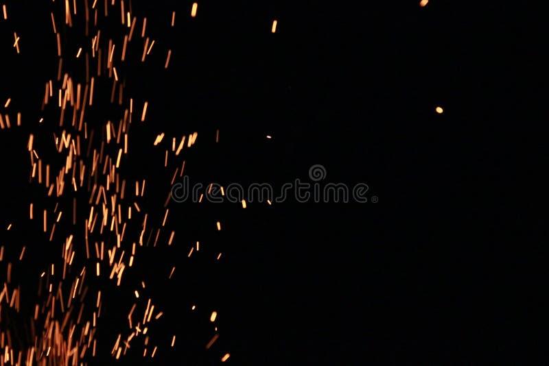 Fiery брызгает стоковые фотографии rf