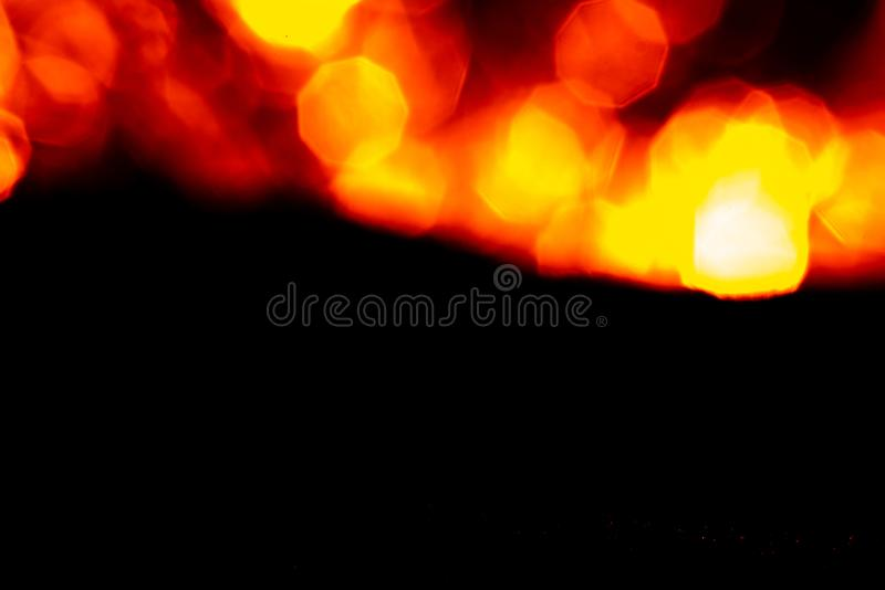 Fiery abstract contrast background with bokeh royalty free stock photo