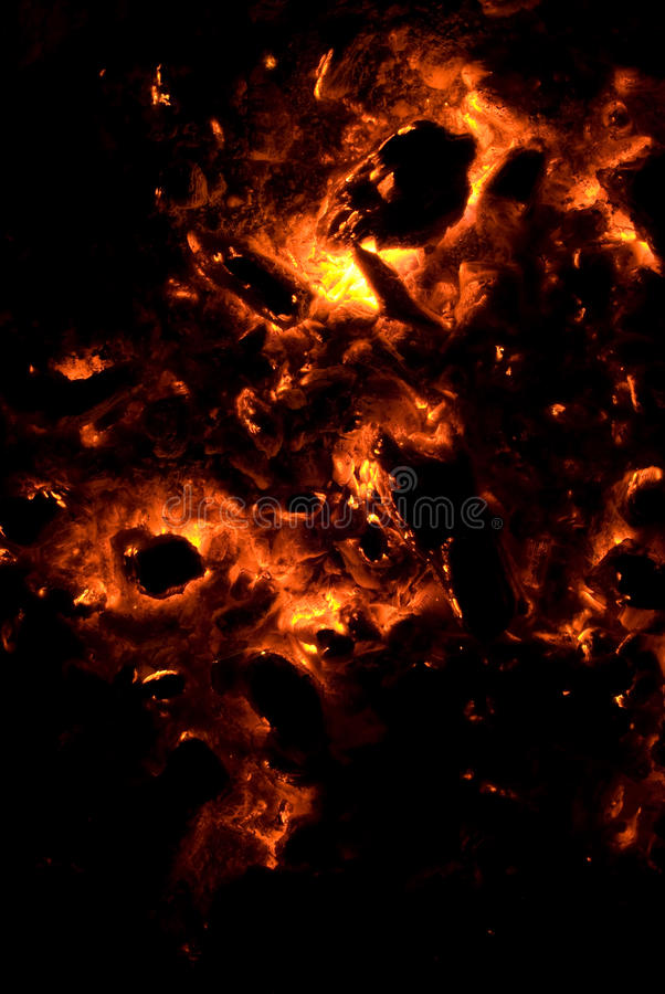 Fiery Background with Skull Shape royalty free stock photography