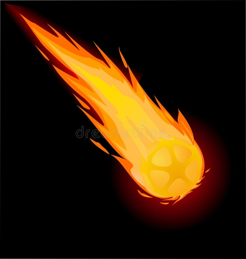 Free Fiery Ball On The Black Background Stock Photo - 20076020