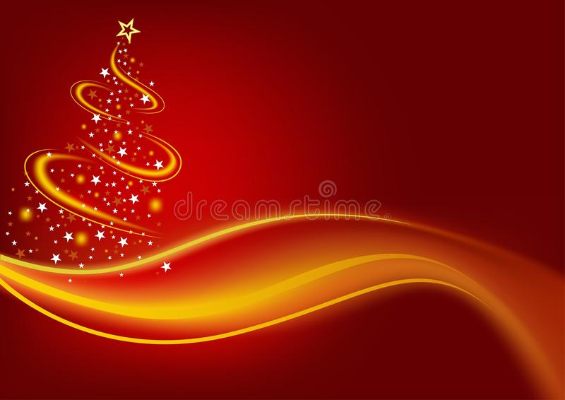 Fiery Christmas Tree. Colored Abstract Illustration, Vector vector illustration