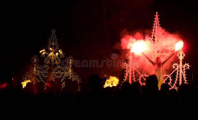 Fiery Dancers stock photos