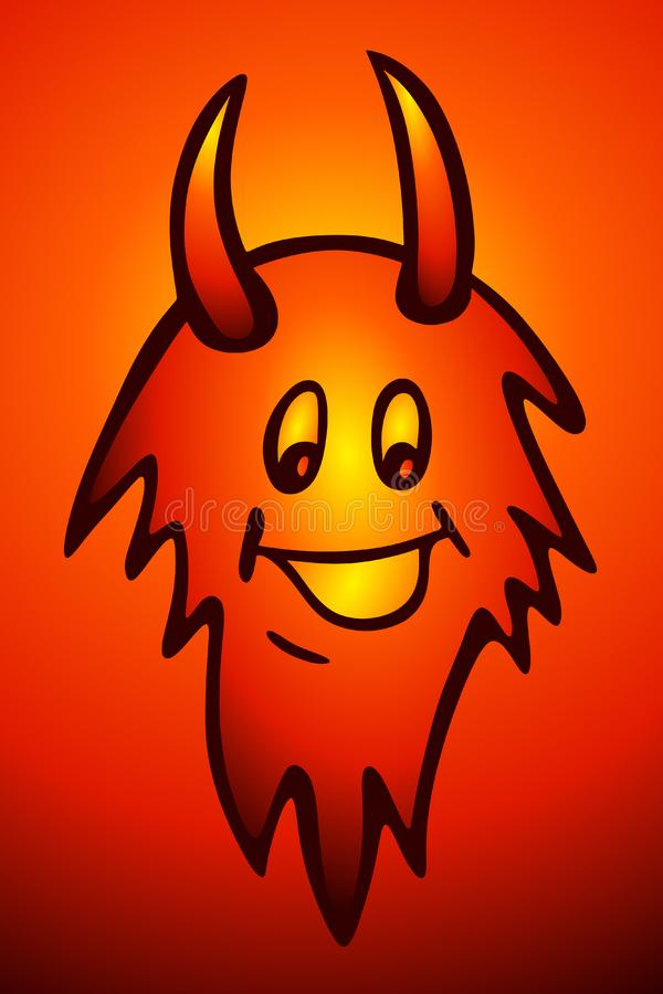 Fiery Devil royalty free stock photo