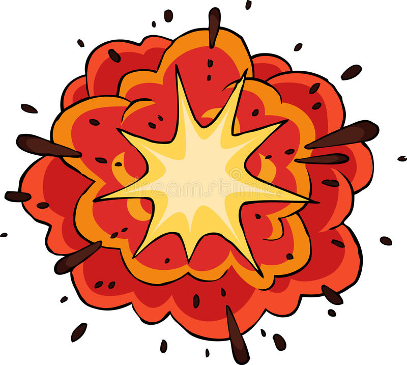 Fiery explosion. On white background vector vector illustration