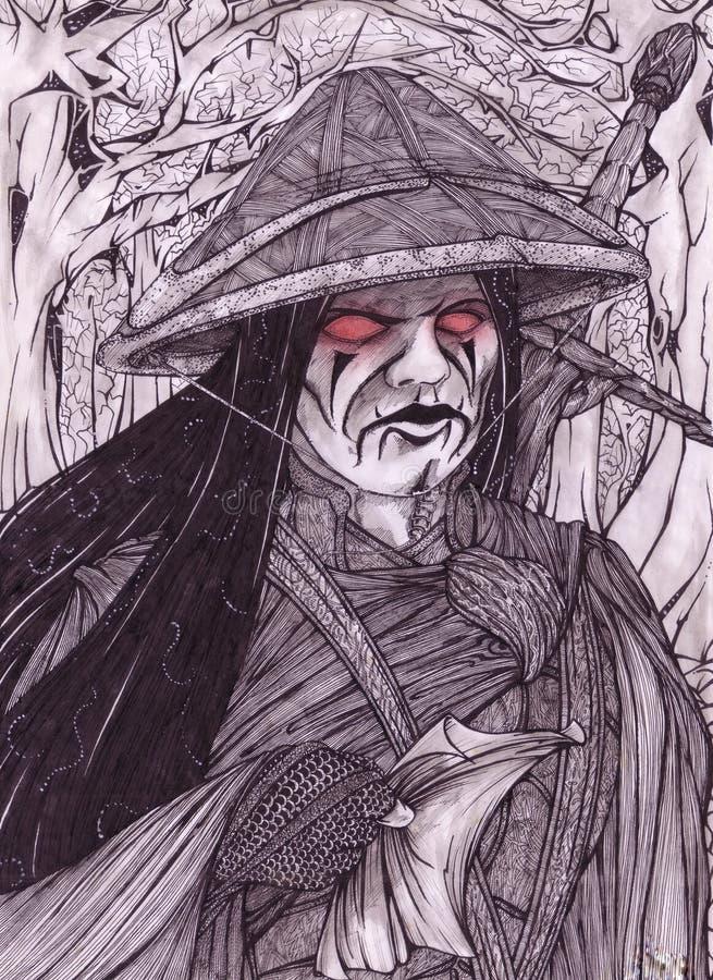 Fiery Eyes vector illustration