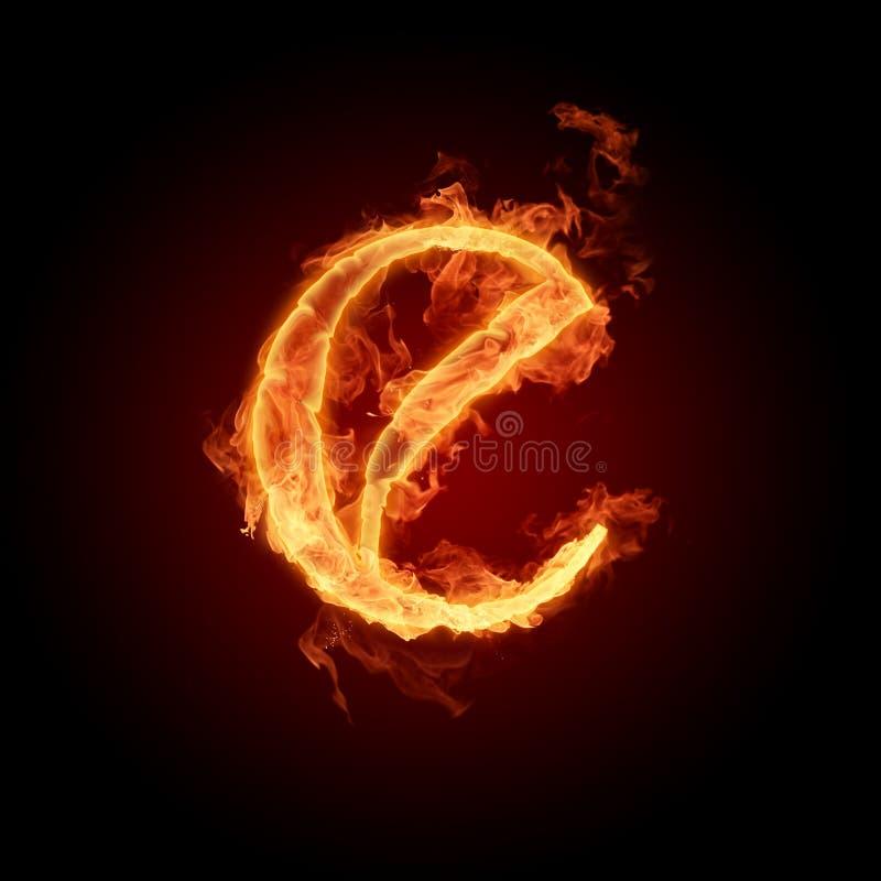 Fiery font stock illustration