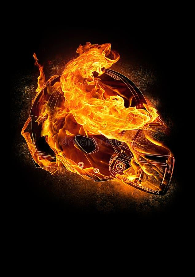 Download Fiery Football Helmet stock image. Image of football - 23564127