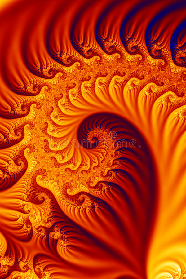 Fiery fractal vector illustration