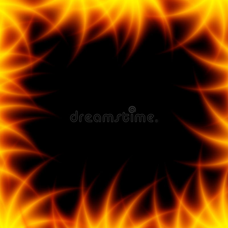 Fiery frame stock photo