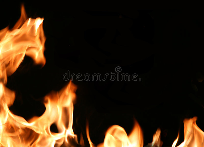 Fiery frame stock images