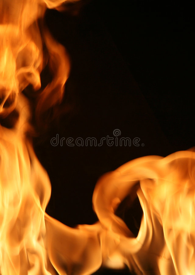 Fiery frame vertical stock photography
