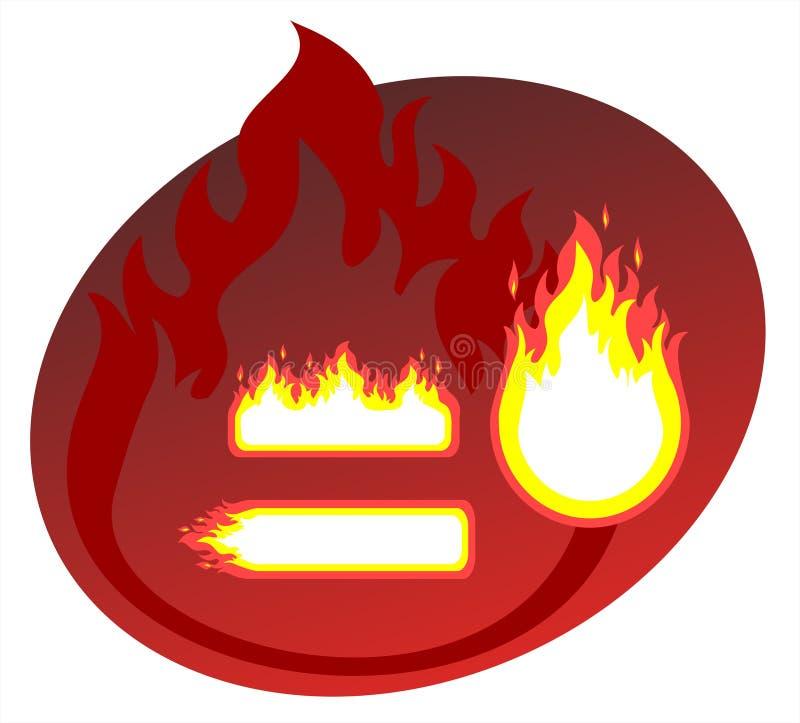 Fiery frames vector illustration