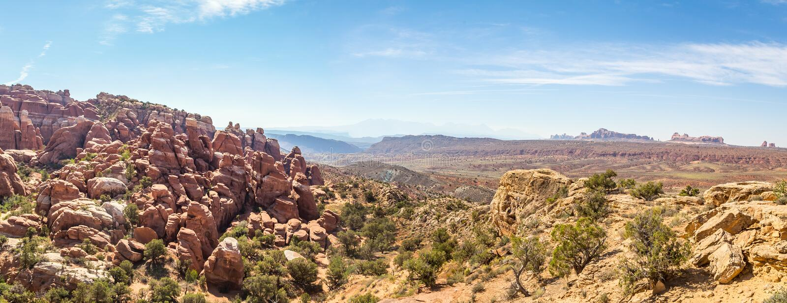Fiery Furnace Arches National Park stock image