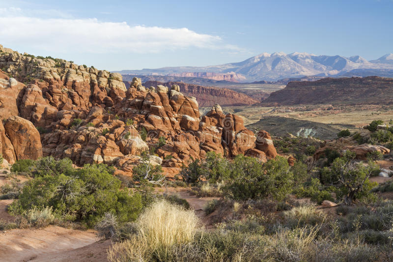 Fiery Furnace in Arches National Park stock image