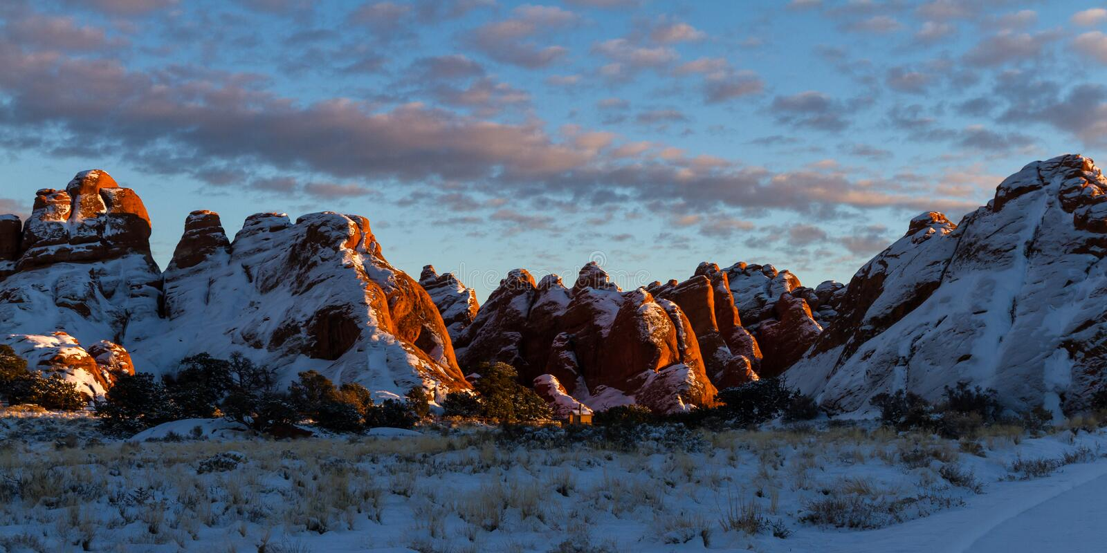 Fiery furnace overlook, Arches NP stock image