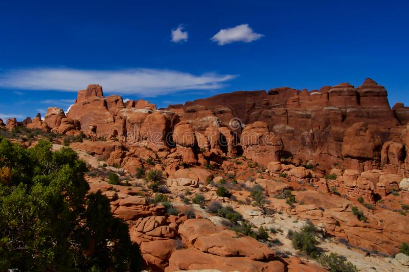 The Fiery Furnace Viewpoint at Arches royalty free stock photo