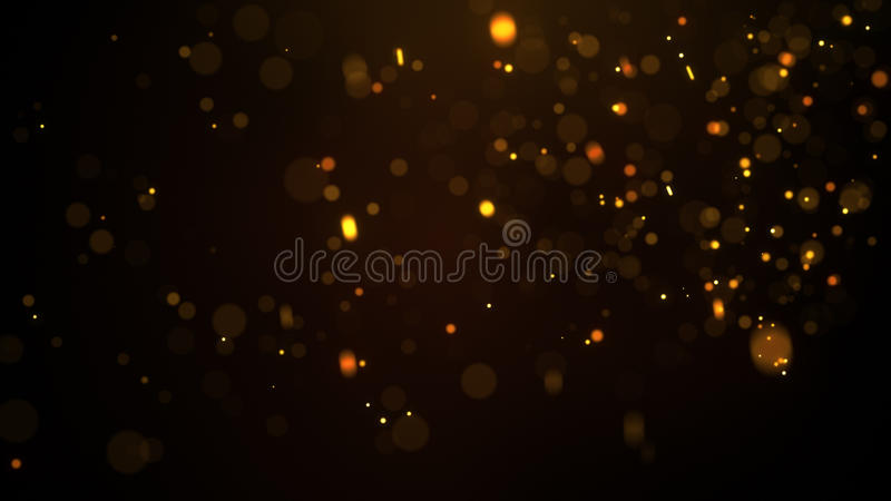 Fiery glowing particles abstract background vector illustration