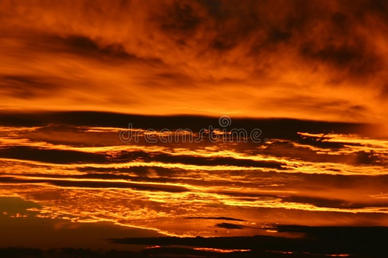 Fiery Grand Canyon Sunset stock photography