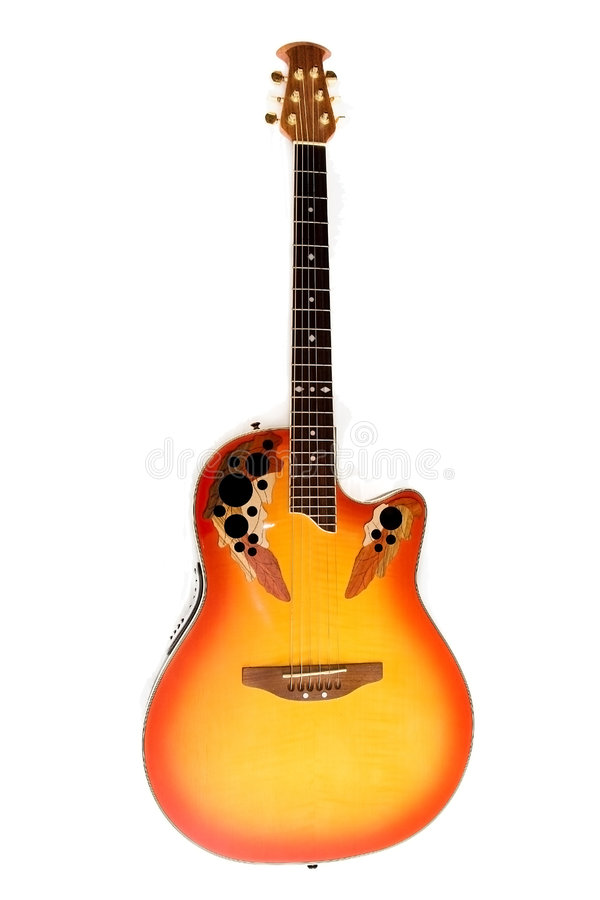 Fiery Guitar Royalty Free Stock Image