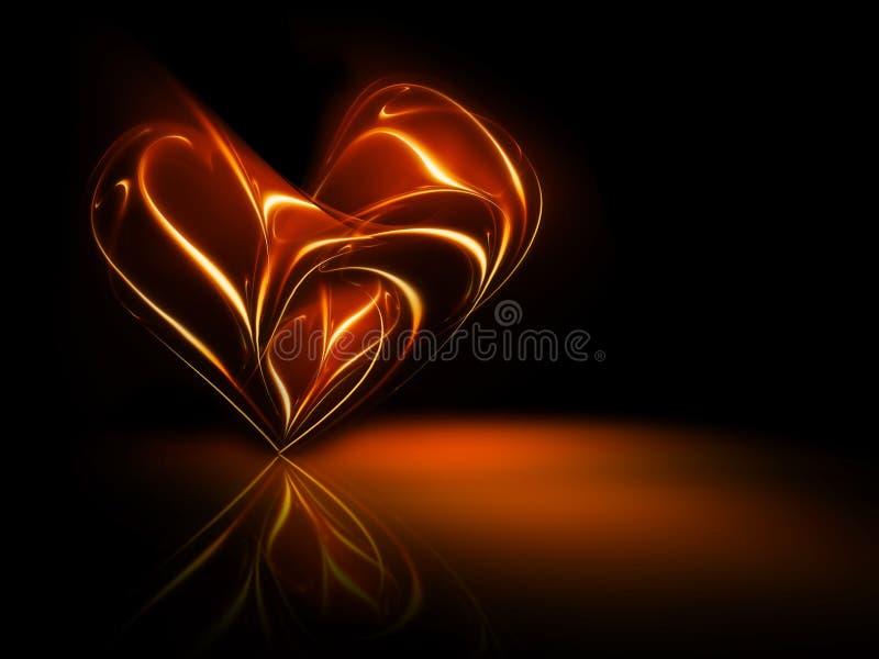 Fiery heart royalty free illustration