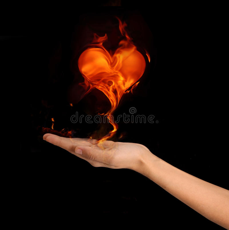 Fiery Heart Stock Images