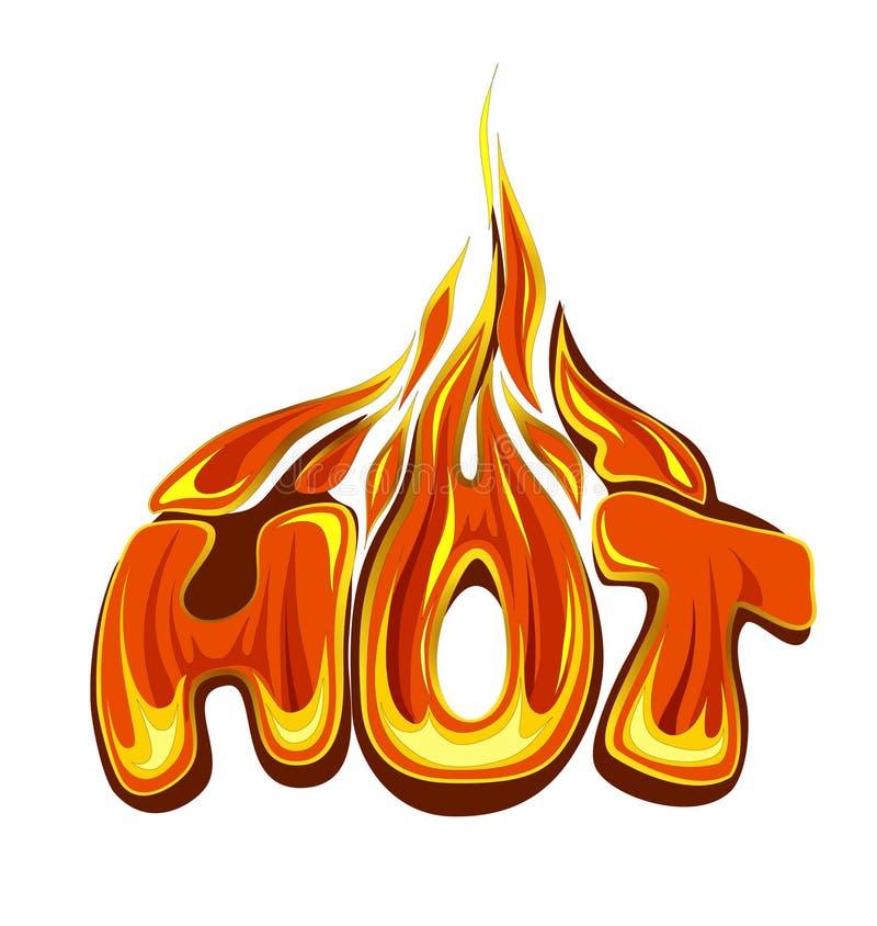 Fiery hot sale. Design template. Eps10 Vector stock illustration