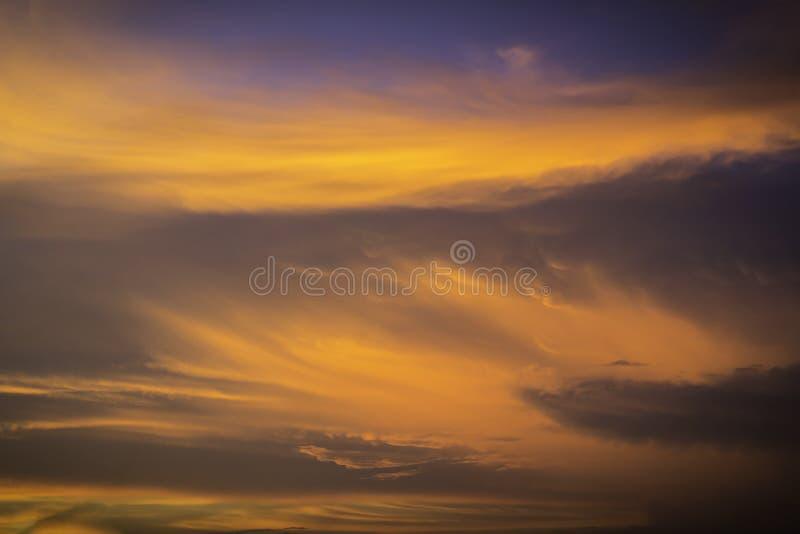 Fiery orange sunset sky royalty free stock photography