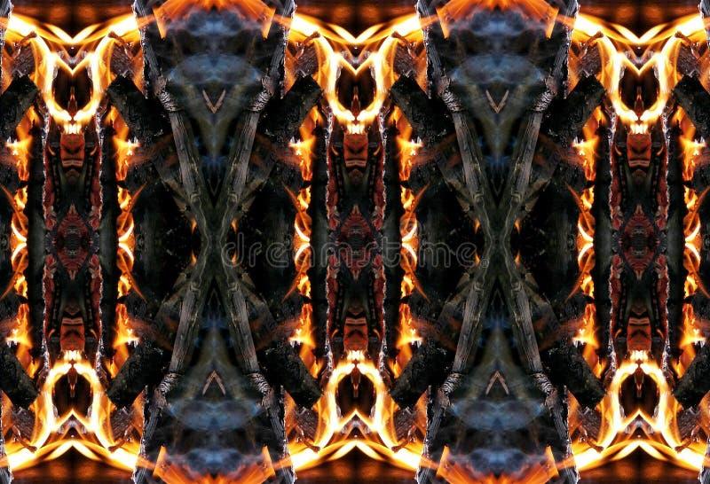 Fiery patterns. stock image