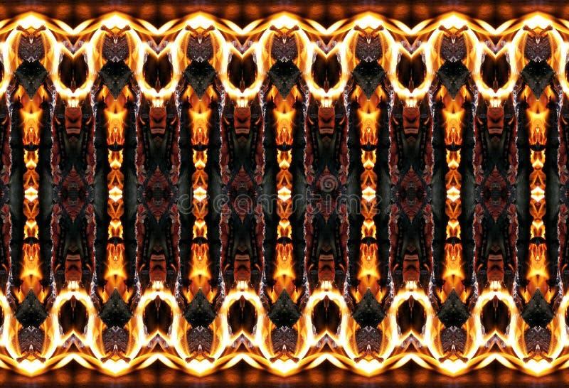 Fiery patterns. stock photography