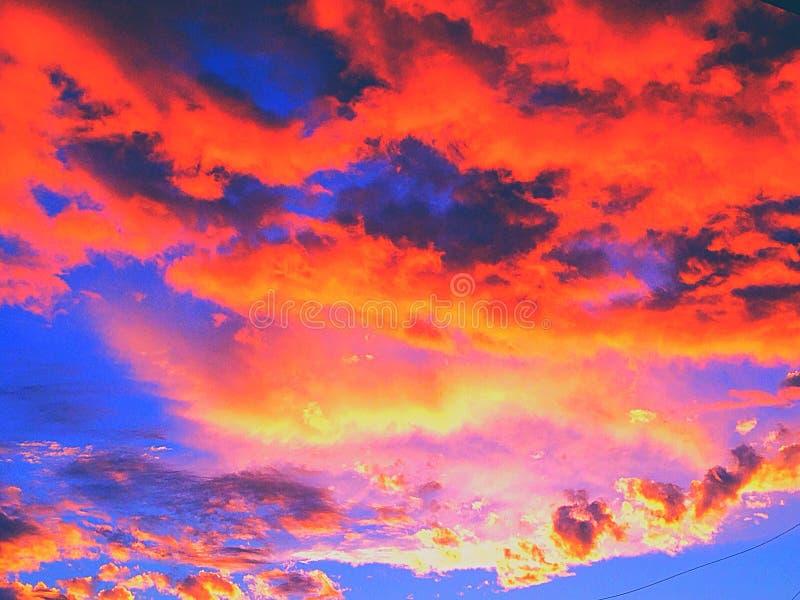 Fiery Sky royalty free stock photos