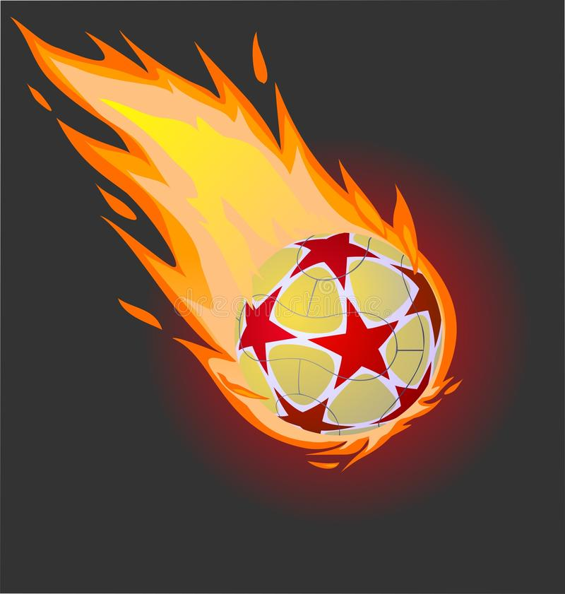 Download Fiery soccer ball stock illustration. Image of black - 20076009