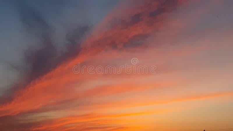 fiery sunset στοκ εικόνες