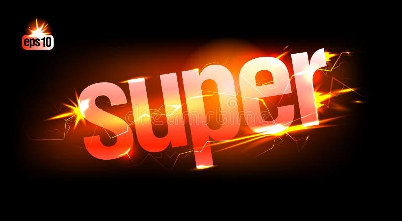 Fiery Super. Fiery abstract plasma Super. Eps10 Vector stock illustration