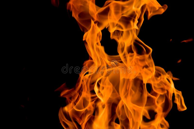 Fiery Teddy Bear. Dancing flames of a campfire resemble a teddy bear, an ewok, a puppy dog sitting, or whatever your imagination sees. A fiery Rorschach Test stock photography