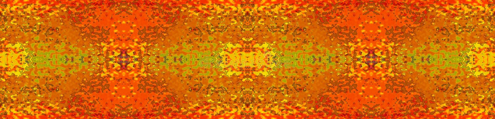 Fiery textured colour strip vector illustration