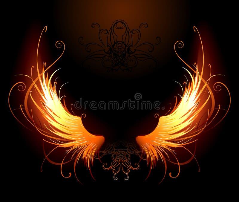 Fiery wings royalty free illustration