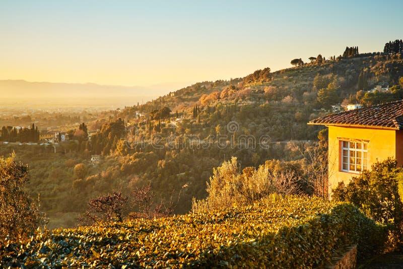 Fiesole cerca de Florencia, Toscana fotografía de archivo libre de regalías