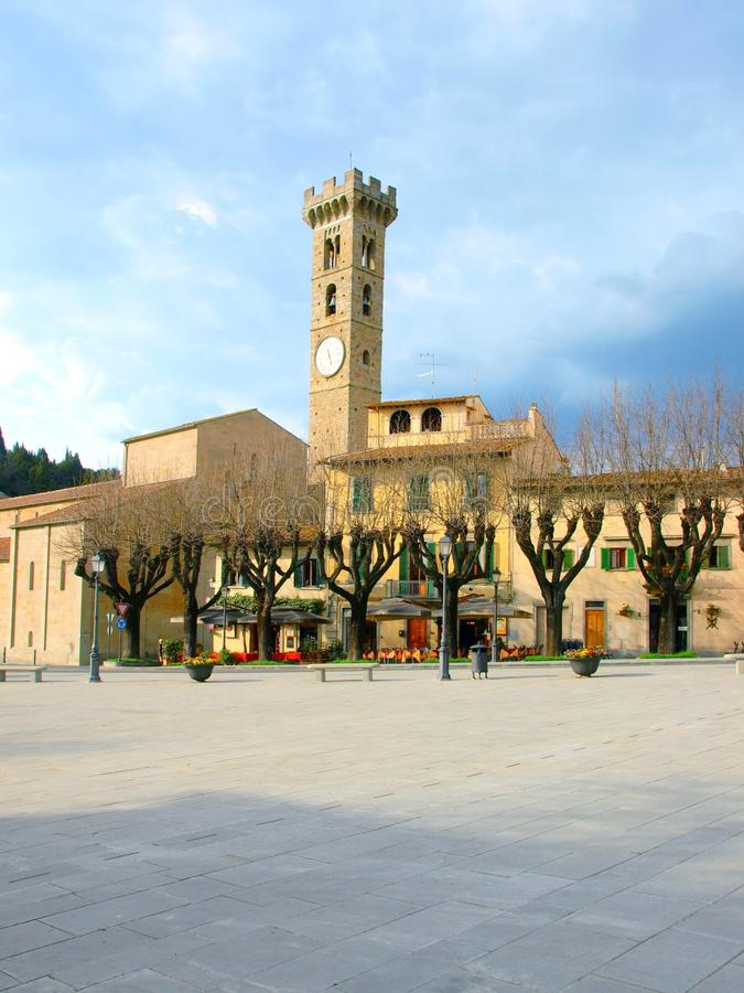 Download Fiesole Square - Tuscany - Italy Stock Photo - Image of hour, italy: 14768178