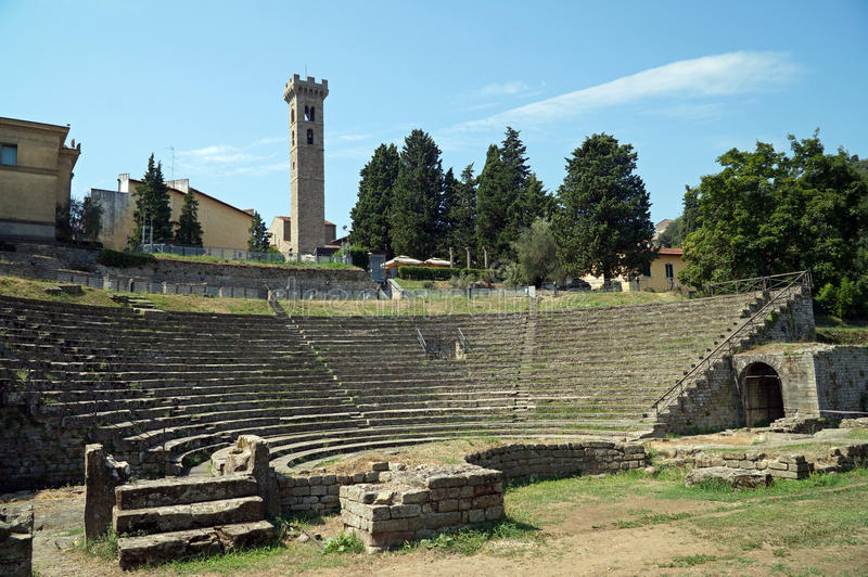 Fiesole Tuscany, Italien arkivbild