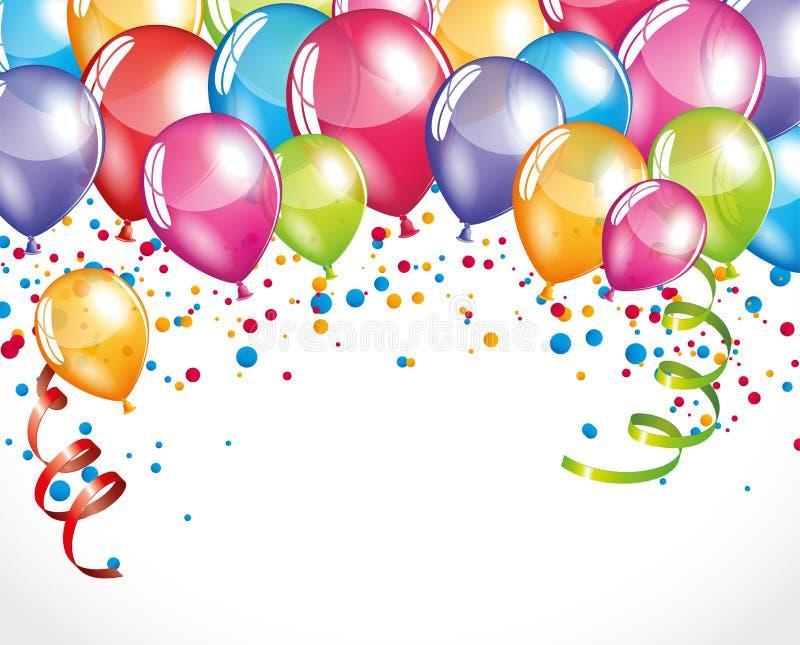 Fiesta balloons stock illustration
