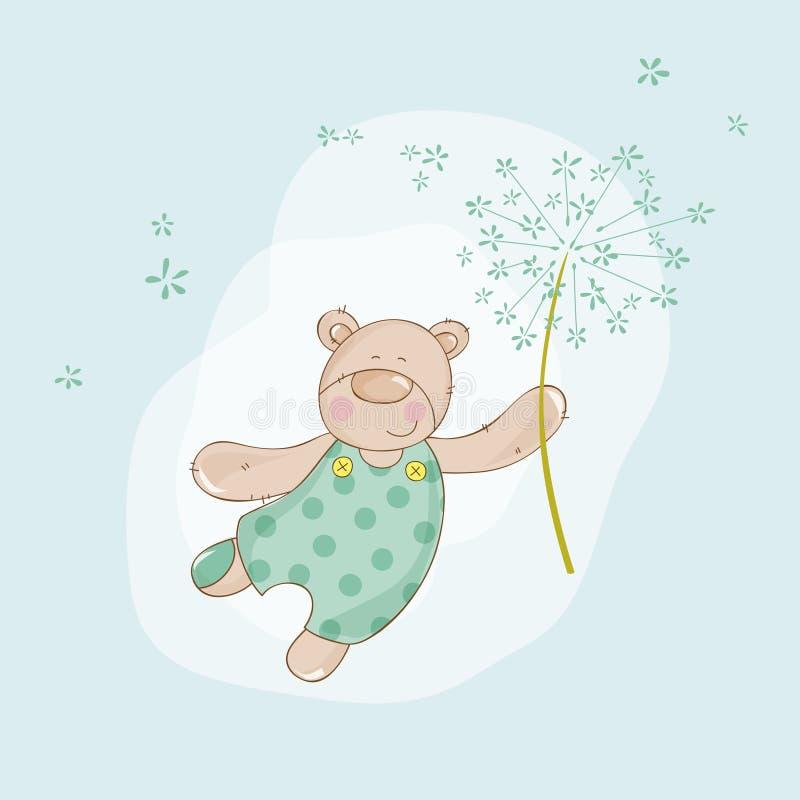 Fiesta de bienvenida al bebé o tarjeta de llegada libre illustration
