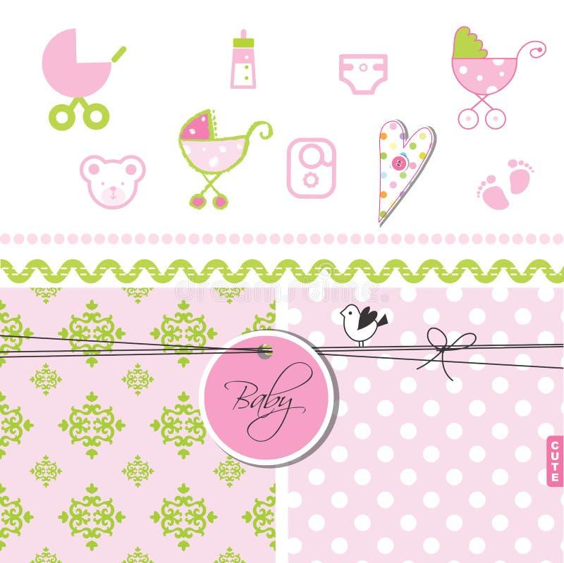 Fiesta de bienvenida al bebé - sistema de elementos del diseño libre illustration