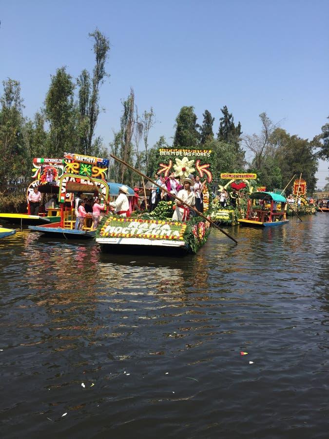 Fiesta de Chinampas 免版税库存照片