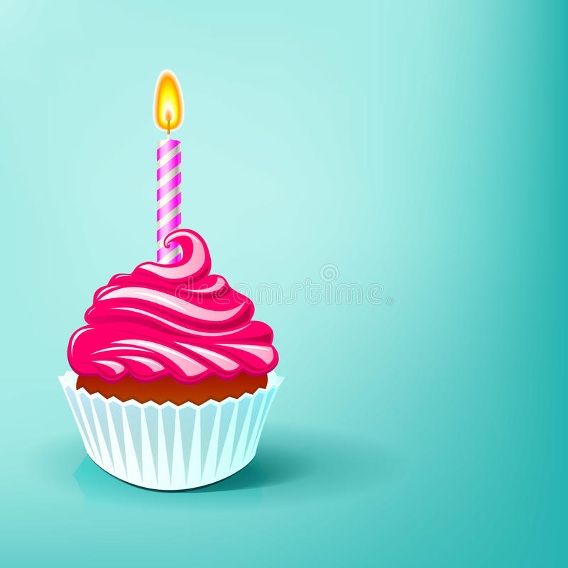 Fiesta de cumpleaños de la torta libre illustration
