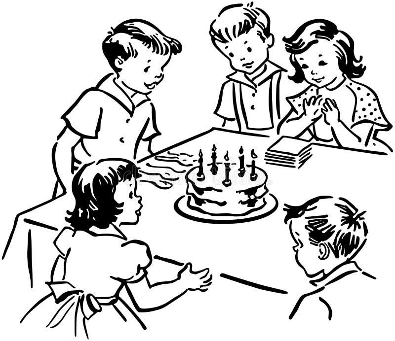 Fiesta de cumpleaños de los niños libre illustration