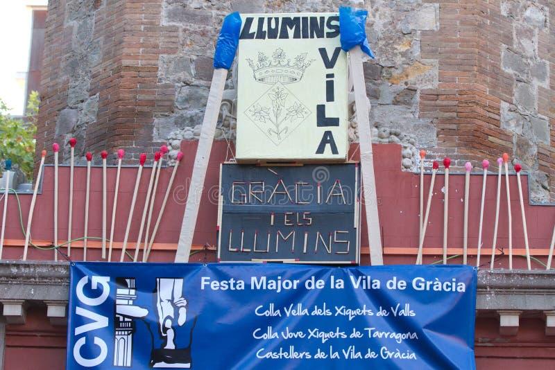 Fiesta de Gracia royaltyfri fotografi