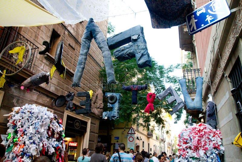 Fiesta DE Gracia stock afbeelding