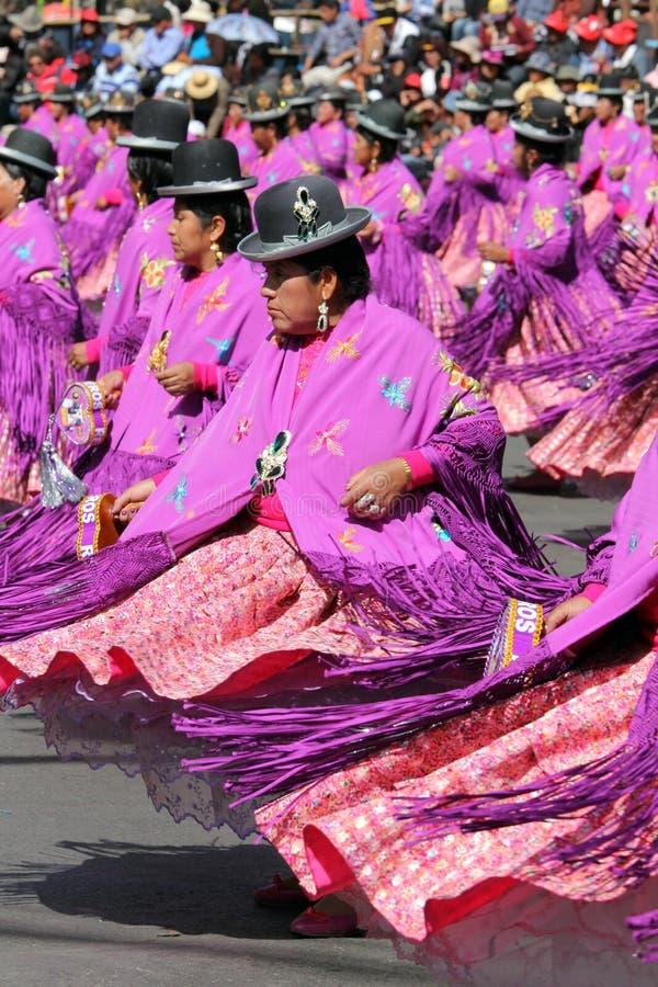 Fiesta de Gran Poder, Bolivien, 2014 lizenzfreie stockfotos