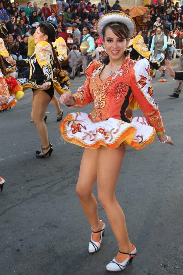 Fiesta de Gran Poder, Bolivien, 2014 stockfotos