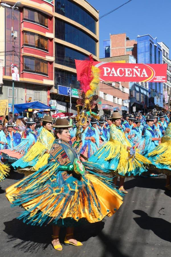 Fiesta de Gran Poder, Bolivien, 2014 stockfoto